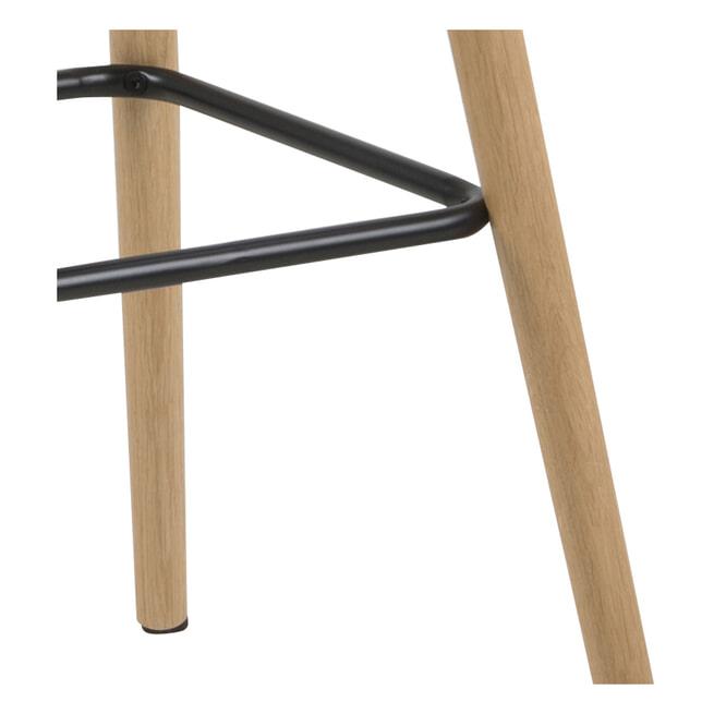 Bendt Barkruk 'Pia' (zithoogte 72cm), kleur Lichtgrijs