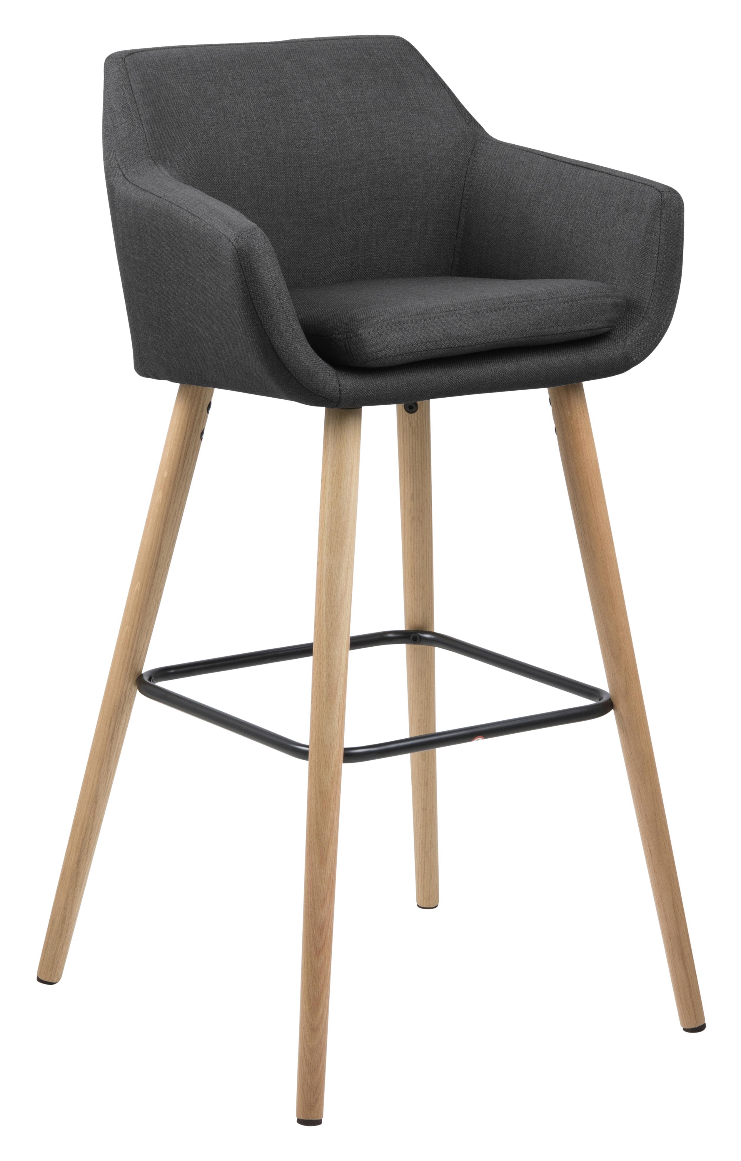 Bendt Barkruk 'Rikke' (zithoogte 79cm), kleur Donkergrijs