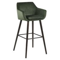 Bendt Barkruk 'Rikke' Velvet (zithoogte 79cm), kleur Forest Green