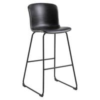 Interstil Barkruk 'Story' (zithoogte 75cm) PU-leder, kleur Zwart
