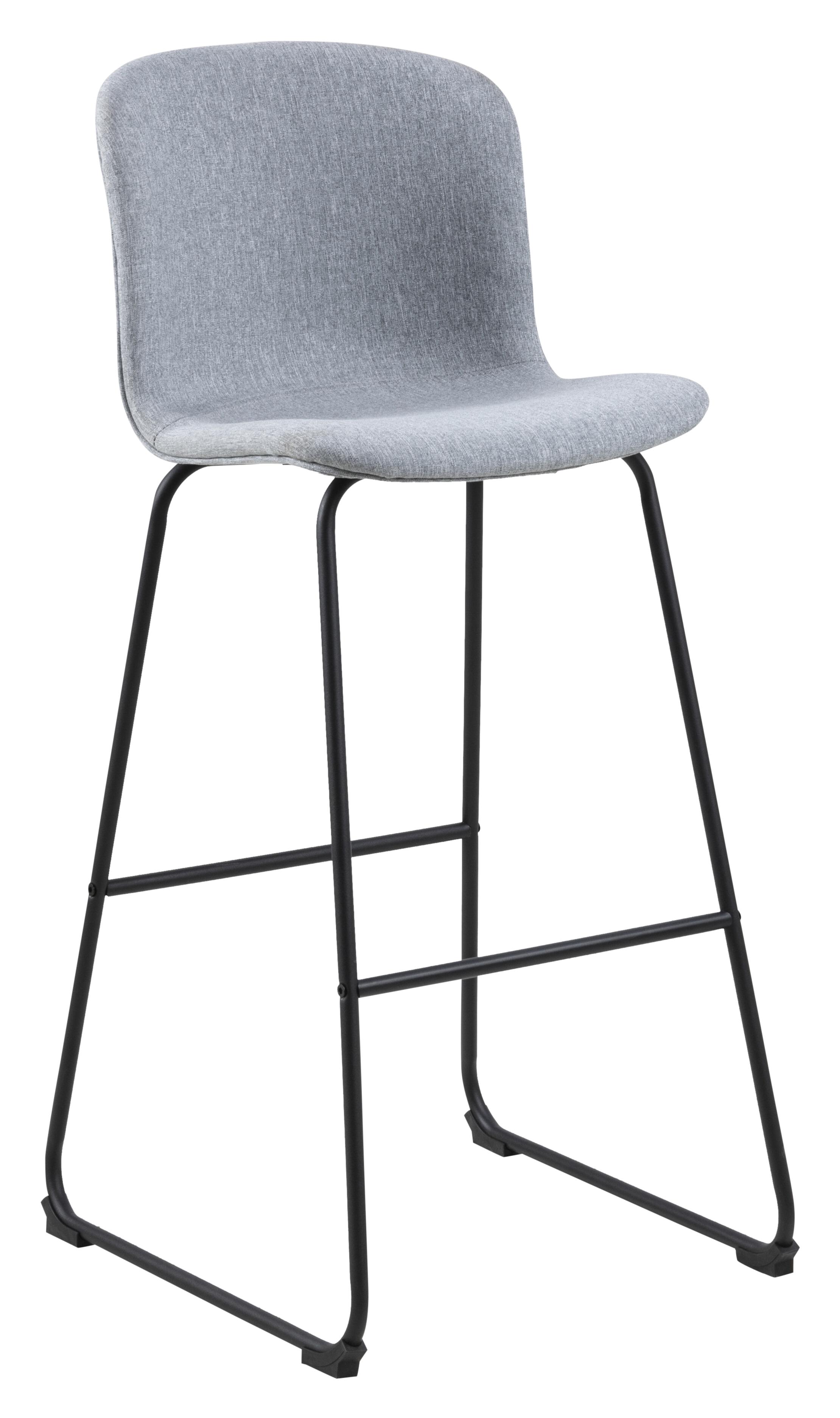 Interstil Barkruk 'Story' (zithoogte 75cm), kleur Lichtgrijs Zitmeubelen | Barkrukken & Barstoelen vergelijken doe je het voordeligst hier bij Meubelpartner