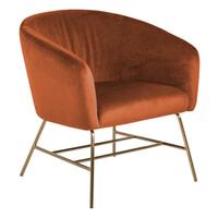 Bendt Fauteuil 'Jessie Gold' Velvet, kleur Copper