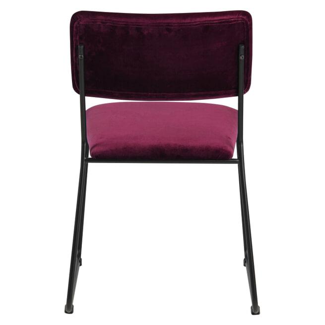 Bendt Eetkamerstoel 'Cornelia' Velvet, kleur Bordeaux