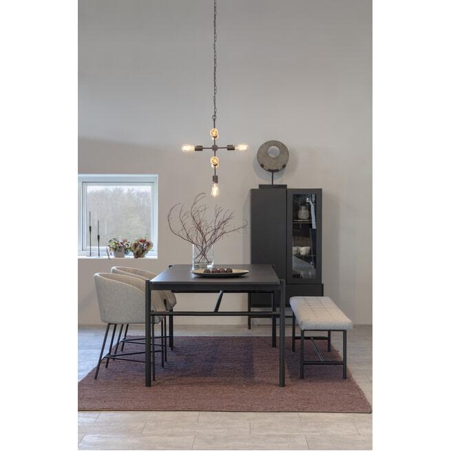 Interstil Eetkamerbank 'Sigfrid' 160cm, kleur Lichtgrijs