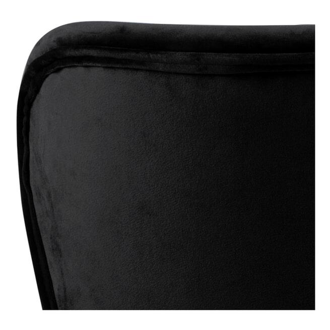 Bendt Eetkamerstoel 'Olle' Velvet, kleur Zwart