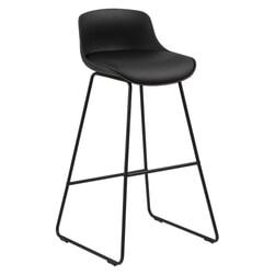 Bendt Barkruk 'Pelle' (zithoogte 76cm), kleur Zwart