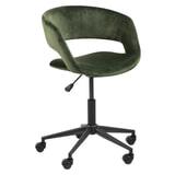 Bendt Bureaustoel 'Pia' Velvet, kleur Forest Green