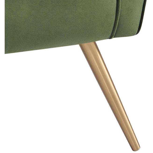 Bendt Fauteuil 'Kamilla' Velvet, kleur Forest Green
