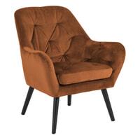 Bendt Fauteuil 'Mette' Velvet, kleur Copper