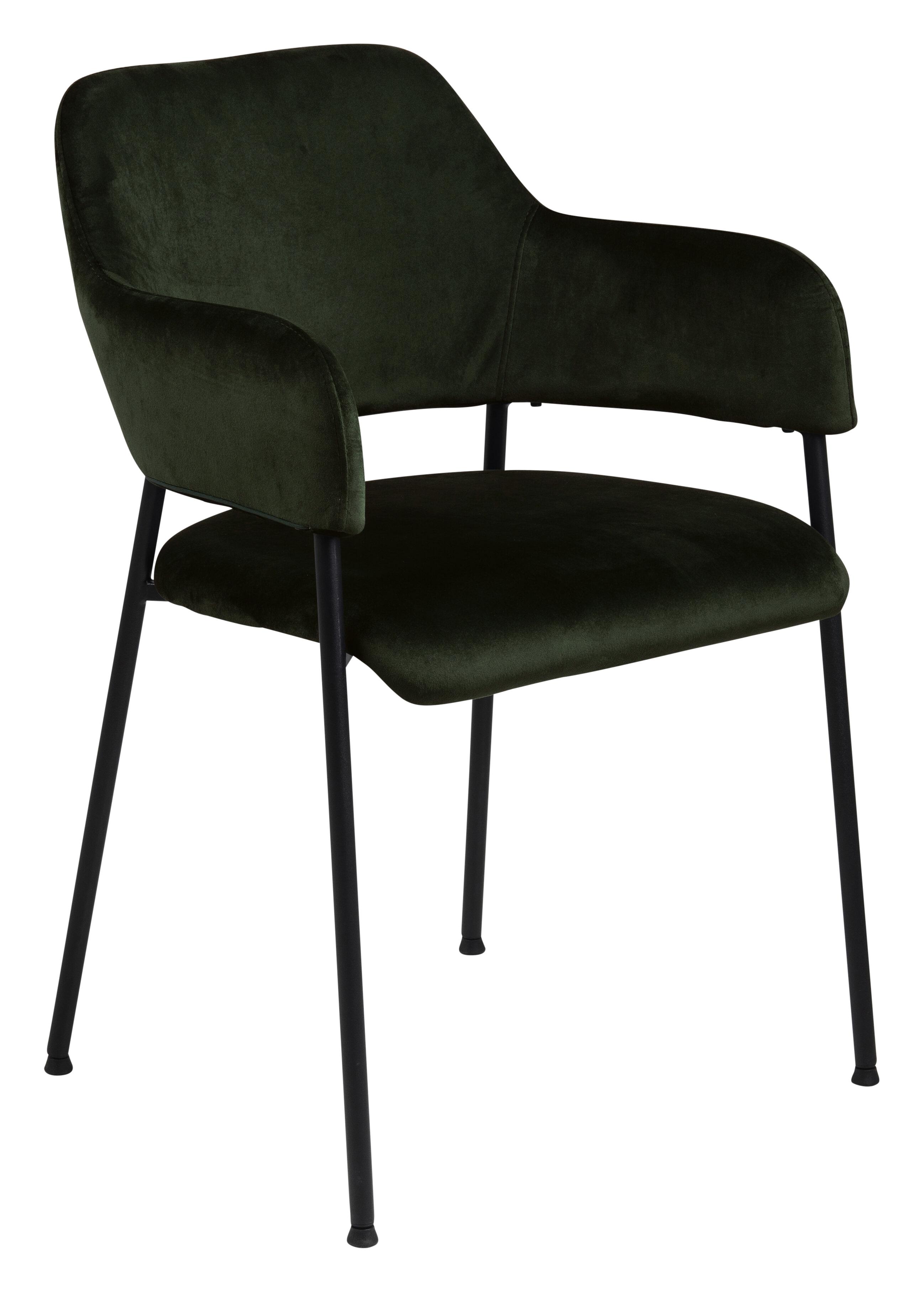 Bendt Eetkamerstoel 'Myla' Velvet, kleur Olive Green