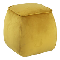 Bendt Poef 'Dory' Velvet, kleur Geel