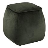 Bendt Poef 'Dory' Velvet, kleur Dark Green