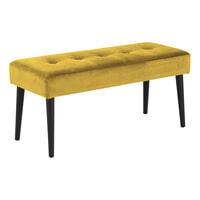 Bendt Halbankje 'Kiara' Velvet, kleur Yellow