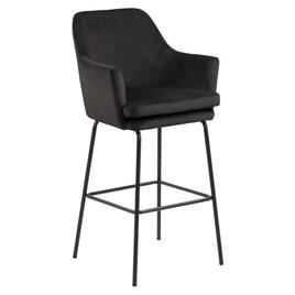Bendt Barkruk 'Kian' Velvet (zithoogte 80cm), kleur Brown