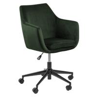 Bendt Bureaustoel 'Rikke' Velvet, kleur Forest Green