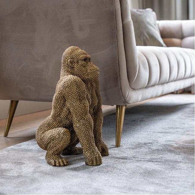 Richmond Decoratie 'Gorilla' Small, kleur Goud