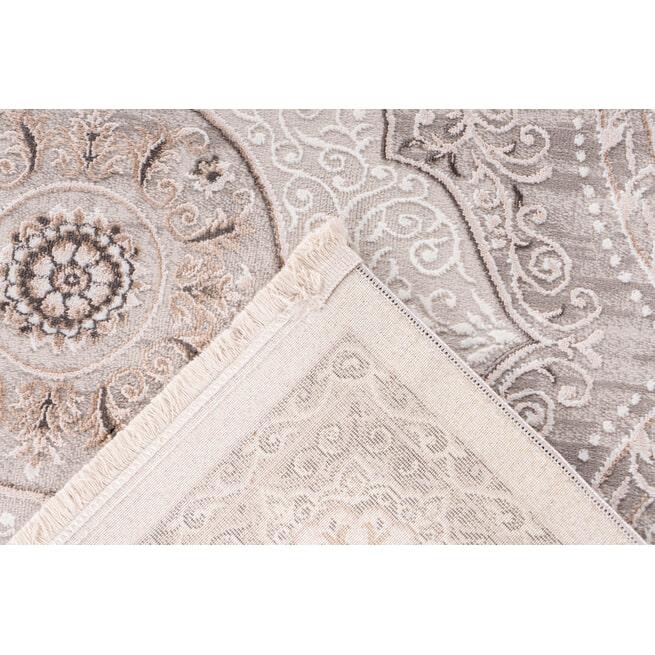 Kayoom Vloerkleed 'Akropolis 525' kleur Grijs / Zilver, 200 x 300cm