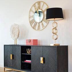 Richmond Tafellamp 'Kayla' 74cm, kleur Goud