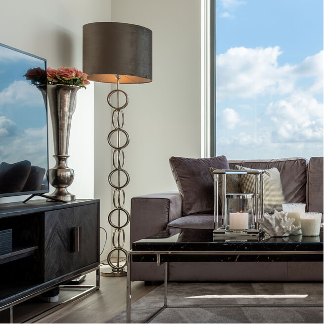 Richmond Vloerlamp 'Bliss' 156cm, kleur Zilver
