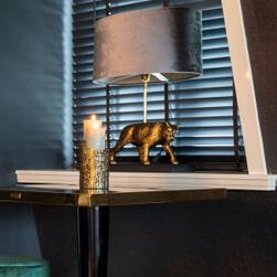 Richmond Tafellamp 'Selene' Panter, kleur Goud