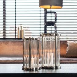 Richmond Windlicht 'Emeray' 34cm, kleur Zilver