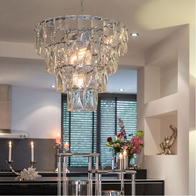 Richmond Hanglamp 'Wyne' kleur Zilver