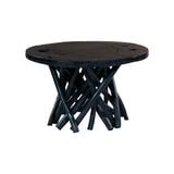 Kayoom Salontafel 'Radix' Teakhout, 60cm, kleur zwart