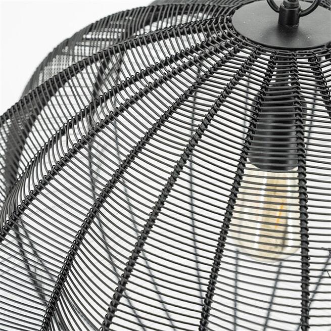 By-Boo Hanglamp 'Floss' 53cm, kleur Zwart