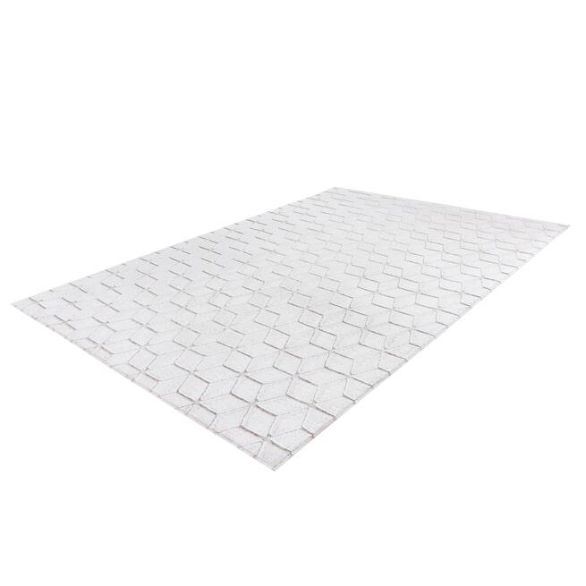 Kayoom Vloerkleed 'Vivica 125' kleur Wit / Taupe, 160 x 230cm