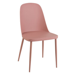 J-Line Eetkamerstoel 'Antony' kleur Roze