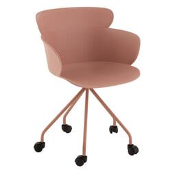 J-Line Bureaustoel 'Edithe' kleur Roze