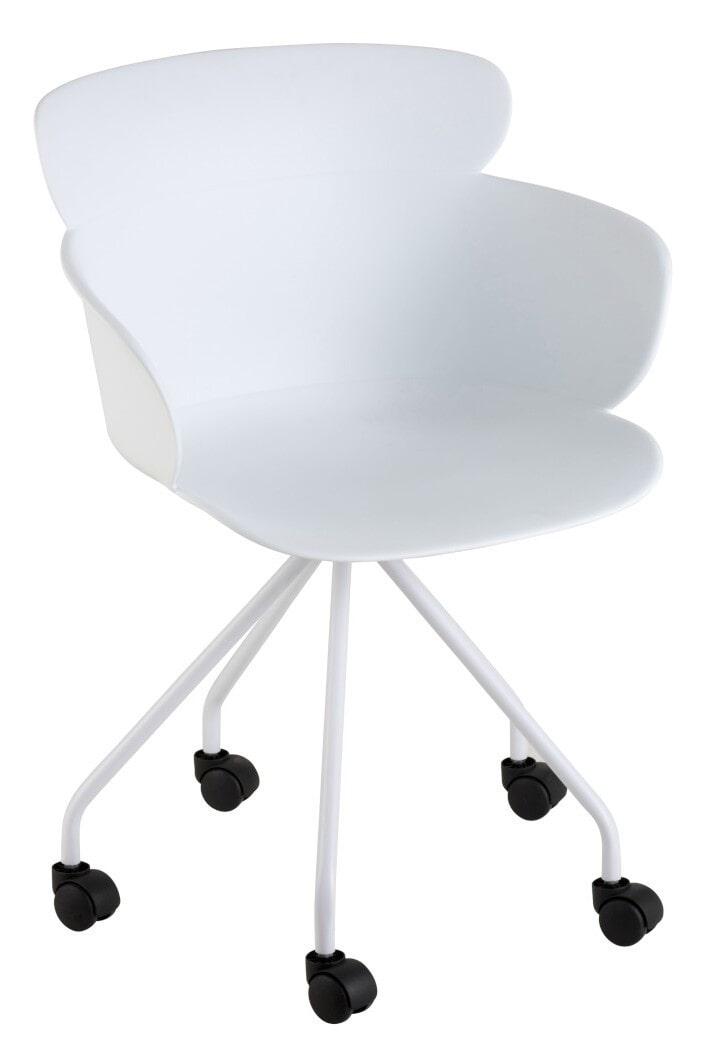 J-Line Bureaustoel 'Edithe' kleur Wit