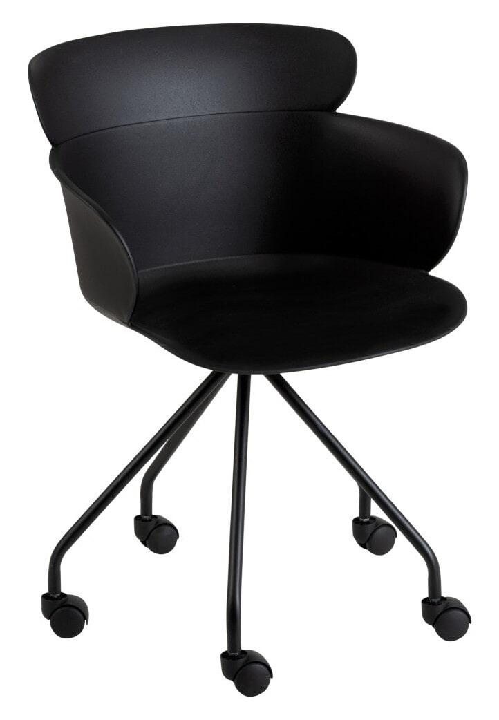 J-Line Bureaustoel 'Edithe' kleur Zwart