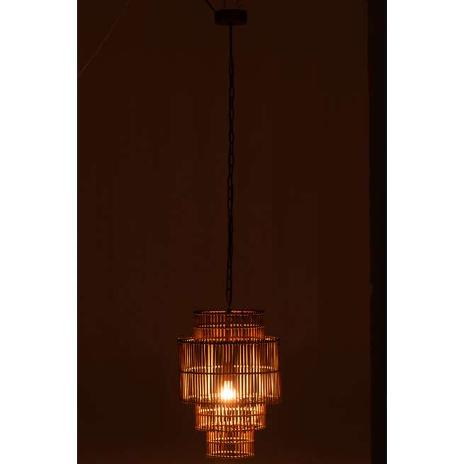 J-Line Hanglamp 'Elianna' Bamboe