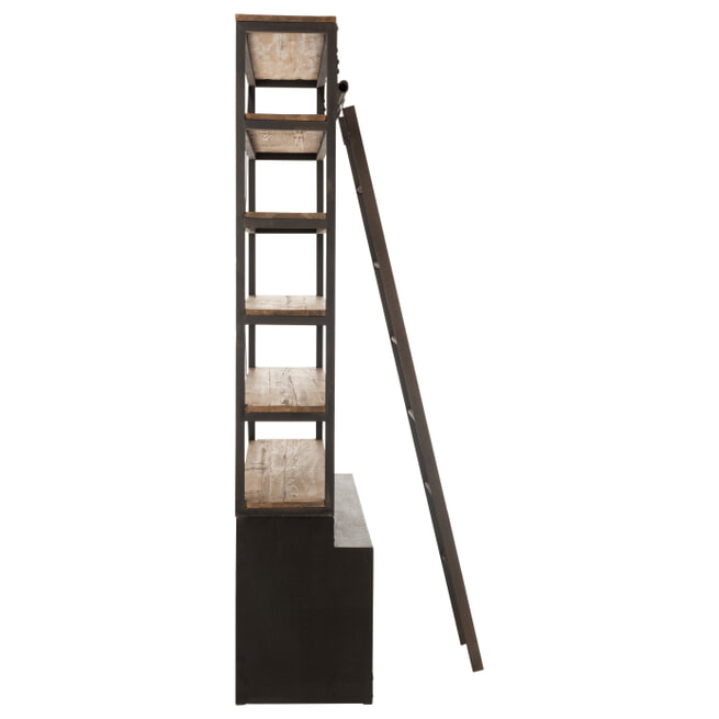 J-Line Wandrek 'Victoor' 220 x 140cm, met ladder