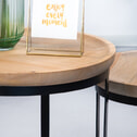 By-Boo set van 2 salontafels 'Wood/metal'