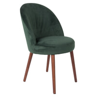 Dutchbone Eetkamerstoel 'Barbara' Velvet, kleur Groen