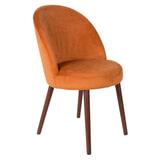 Dutchbone Eetkamerstoel 'Barbara' Velvet, kleur Oranje