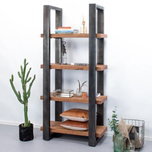 Eleonora Boekenkast 'Mango Industrieel' 94 cm