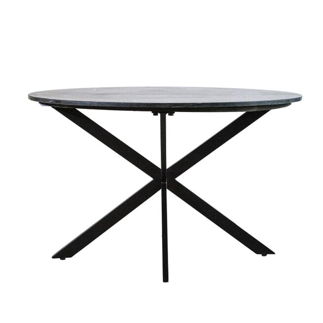Eleonora Ronde Eettafel 'Remy' 130cm, kleur Zwart Marmer