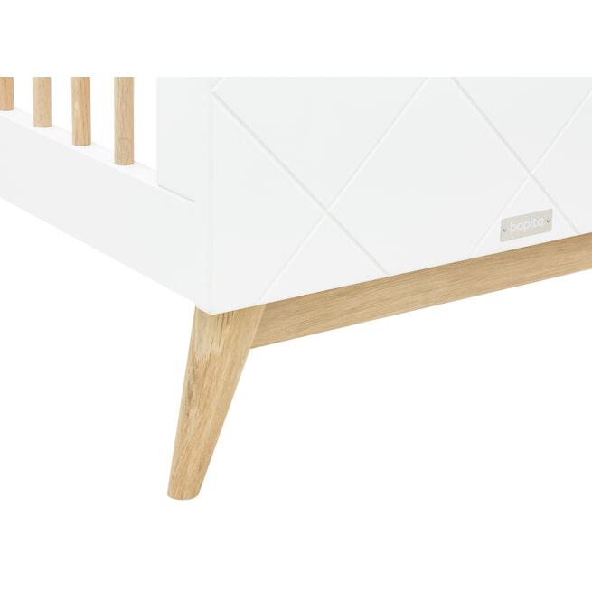 Bopita Ledikant 'Paris' 60 x 120cm, kleur wit / eiken