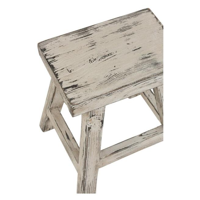 J-Line Krukje 'Lexy' Rechthoek, White wash, 45cm hoog