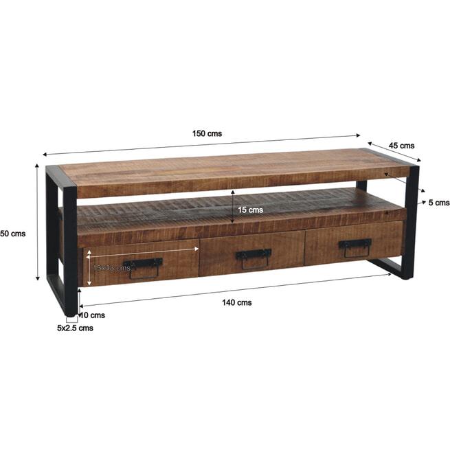 LivingFurn Tv-meubel 'Strong' 150cm