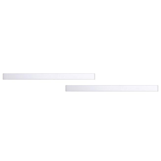 Bopita Wandplank 'Camille' set van 2, kleur wit