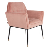 Dutchbone Eetkamerstoel 'Kate', kleur Roze