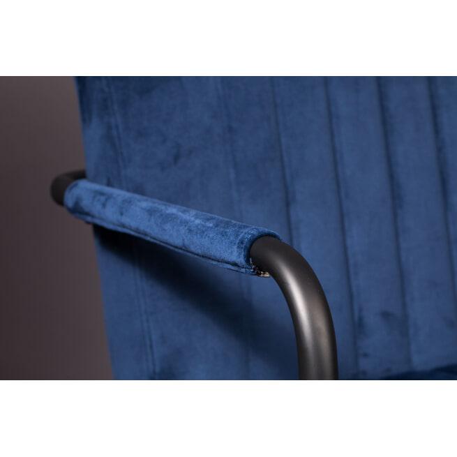 Dutchbone Eetkamerstoel 'Stitched' Velvet