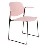ZILT Eetkamerstoel 'Simon' met armleuning, kleur Roze