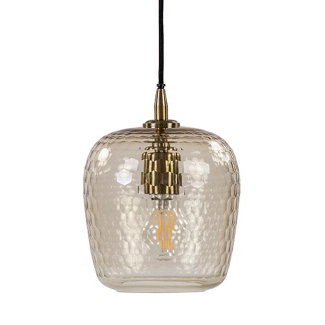 Light & Living Hanglamp 'Danita' 17cm, glas antiek brons