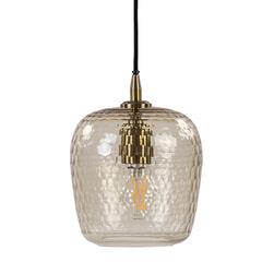 Light & Living Hanglamp 'Danita' 20cm, glas antiek brons