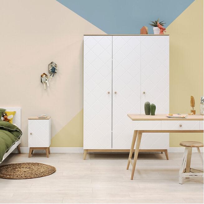 Bopita Bureau 'Paris' kleur wit / eiken